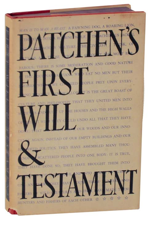 Kenneth Patchen first will and testament