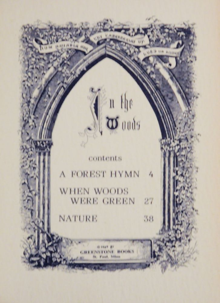William Cullen Bryant forest hymn