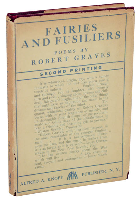 Fairies and Fusiliers: Poems. Robert GRAVES.