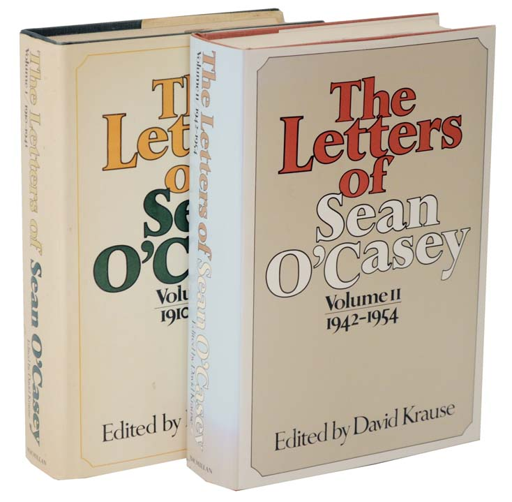 The Letters of Sean O'Casey Volume I 1910 -1941 and Volume II 1942 -1954. Sean O'CASEY, David Krause.