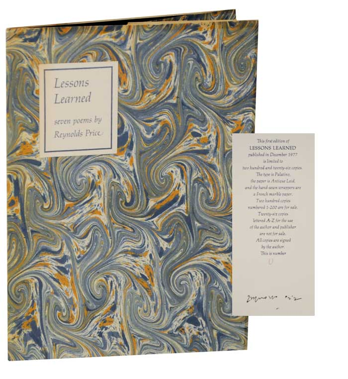 Lessons Learned (Signed Limited Edition). Reynolds PRICE.