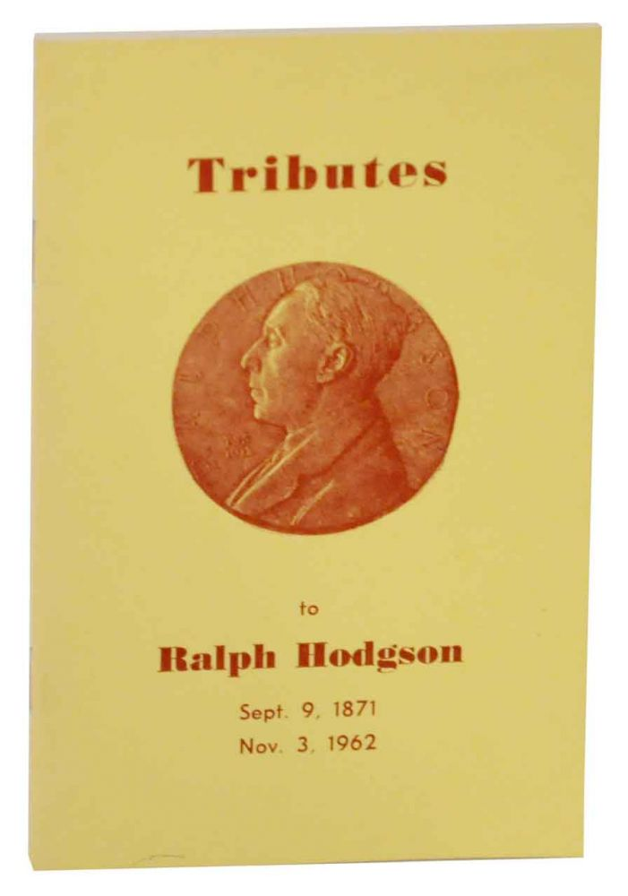 Tribute to Ralph Hodgson