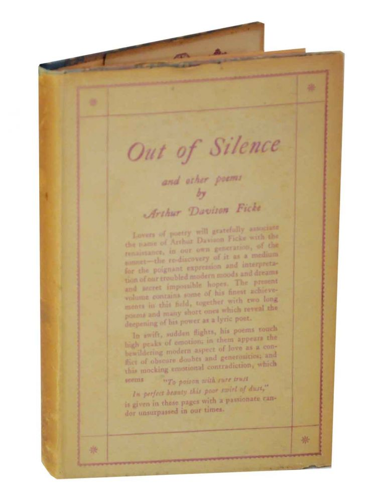 Out of Silence and Other Poems. Arthur Davison FICKE.