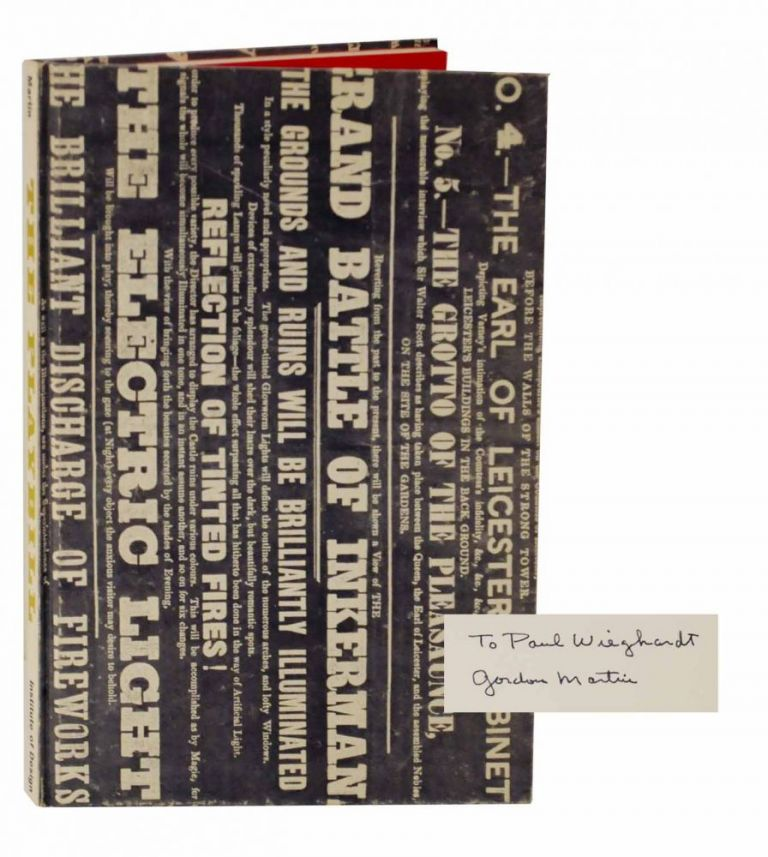 The Playbill: The Development of Its Typographic Style (Signed First Edition). Gordon MARTIN.