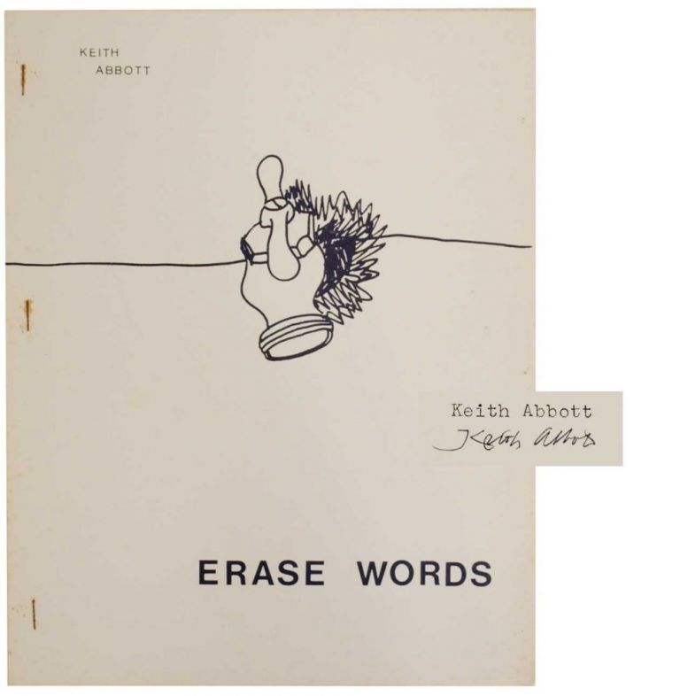 Erase Words (Signed First Edition). Keith ABBOTT.