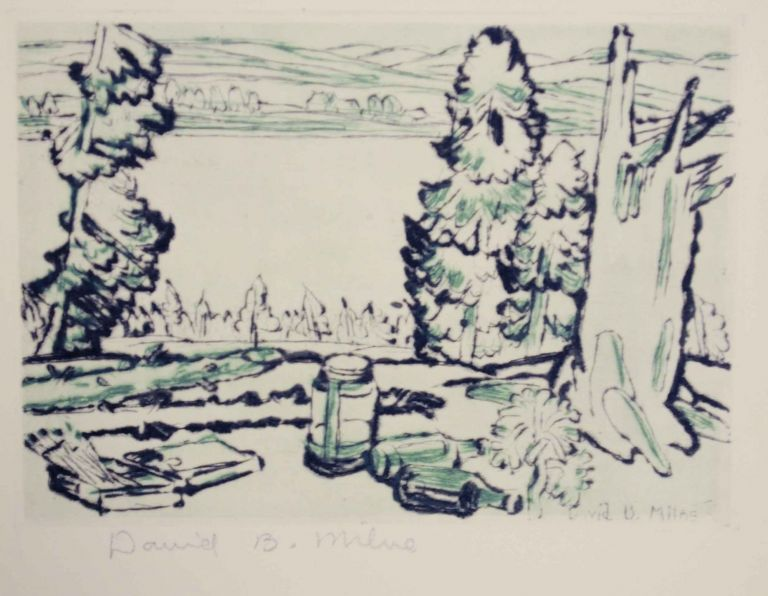 Hilltop- Limited Edition Print from The Colophon, A Book Collector's Quarterly Part 5. David B. MILNE.