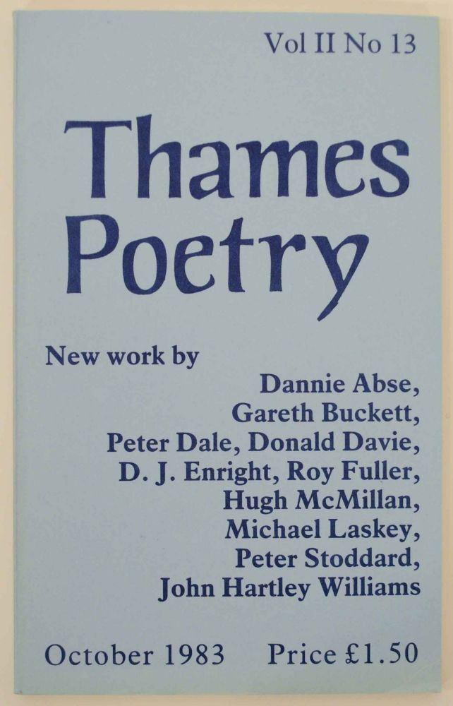 Thames Poetry Vol II No. 13 October 1983. A. A. CLEARY.