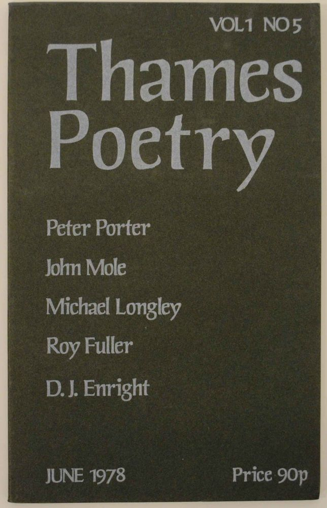 Thames Poetry Vol I No. 5 December 1978. A. A. CLEARY.