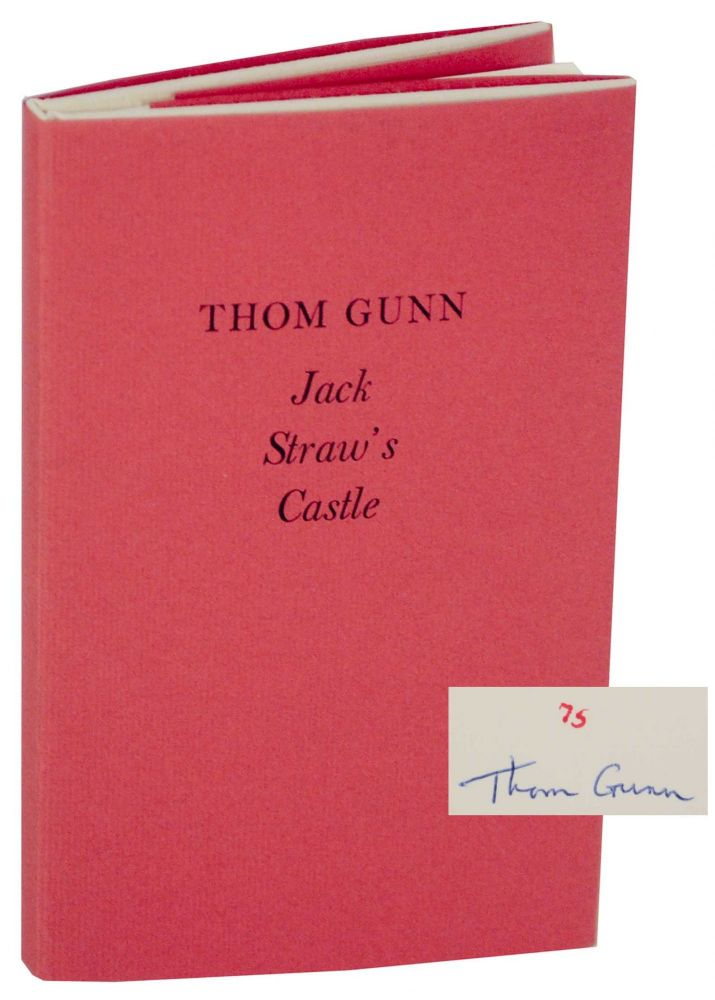 Jack Straw's Castle (Signed Limited Edition). Thom GUNN.