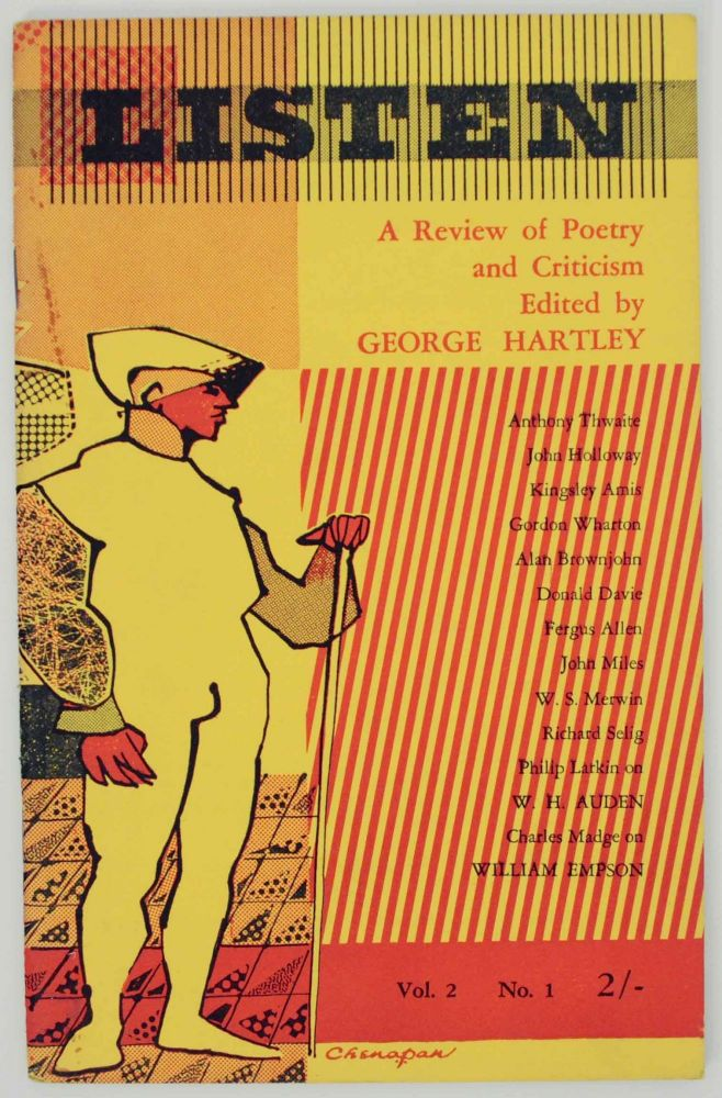 Listen: A Review of Poetry and Criticism Volume Two, Number One Summer 1956. George HARTLEY, Philip Larkin Kingsley Amis, W. S. Merwin et at.