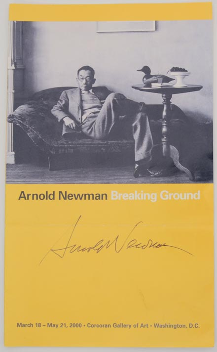 Arnold Newman: Breaking Ground. Arnold NEWMAN, Philip Brookman.