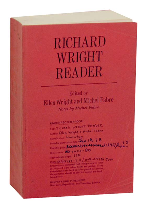 Richard Wright Reader. Ellen WRIGHT, Michel Fabre, Richard Wright.