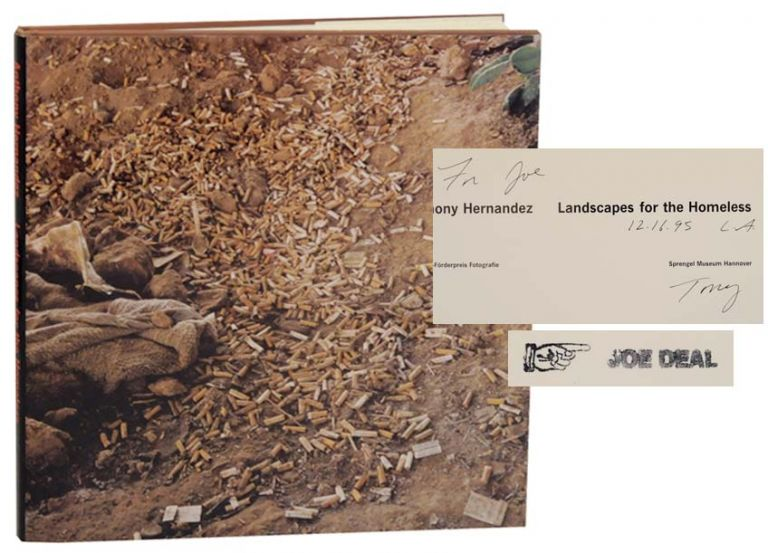Landscapes for the Homeless (Signed First Edition). Anthony HERNANDEZ, Lewis Baltz.