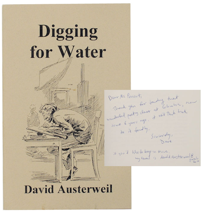 Digging for Water (Signed First Edition). David AUSTERWEIL.