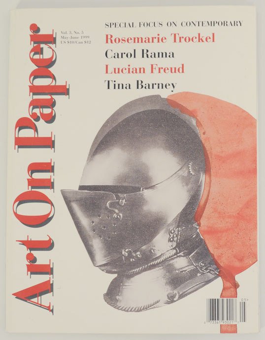 Art on Paper Vol. 3 No. 5 May-June 1999. Faye HIRSCH, Lucian Freud Rosemarie Trockel, Tina Barney.