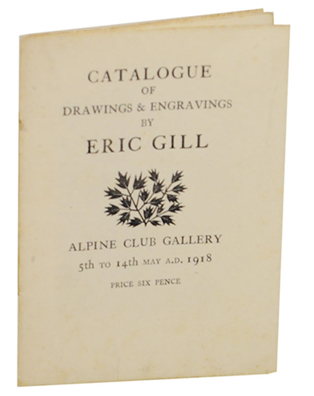 Catalogue of Drawings & Engravings By Eric Gill. Eric GILL.