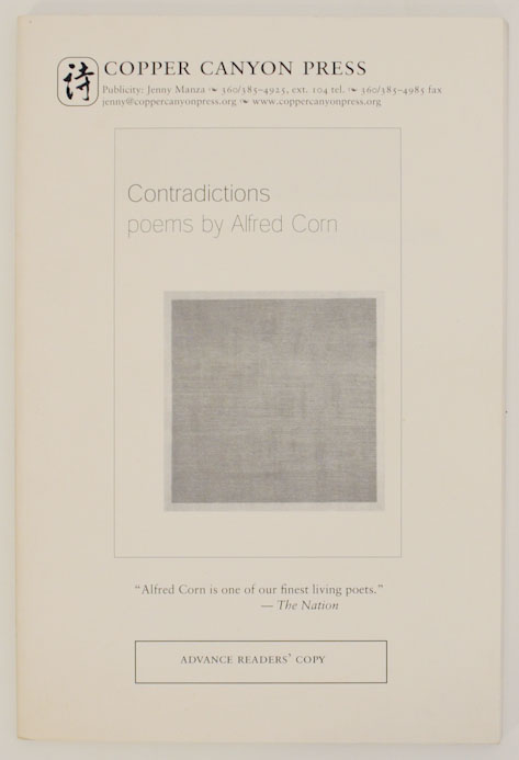 Contradictions. Alfred CORN.