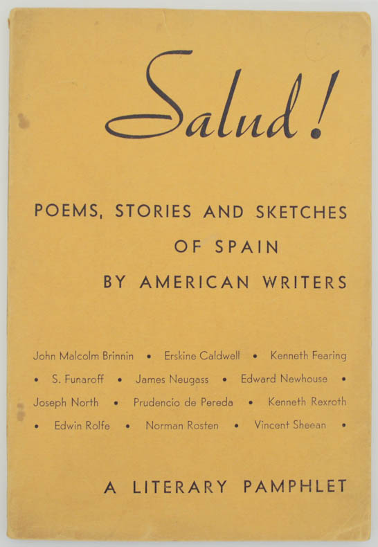 Salud Poems! Stories and Sketches of Spain by American Writers. Alan CALMER.