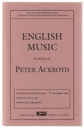 English Music. Peter ACKROYD.