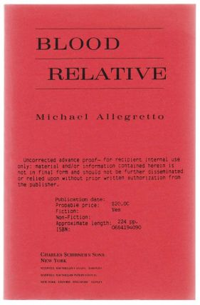 Blood Relative. Michael ALLEGRETTO