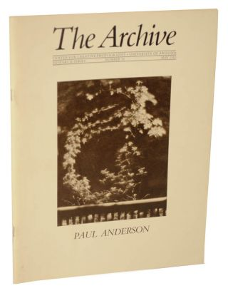 Paul Anderson: The Archive, Research Series, Number 18, May 1983. Paul ANDERSON.