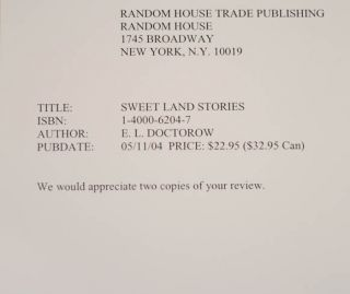 Sweet Land Stories (Review Copy)