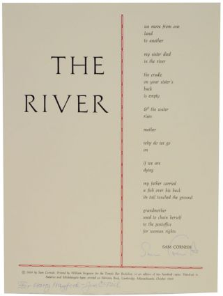 The River (Signed Broadside). Sam CORNISH