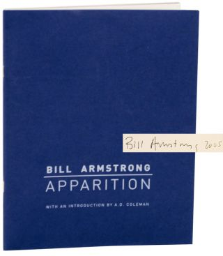 Apparition (Signed First Edition). Bill ARMSTRONG
