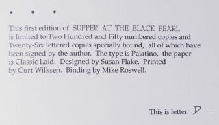 Supper at the Black Pearl (Signed Limited Edition)