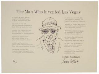 The Man Who Invented Las Vegas (Signed Broadside). Gerald COSTANZO