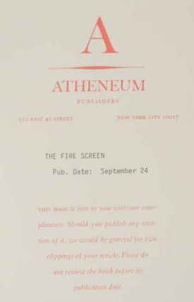 The Fire Screen (Signed First Edition)