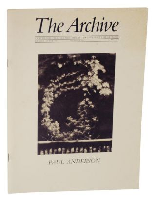 Paul Anderson: The Archive, Research Series, Number 18, May 1983. Paul ANDERSON