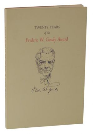 Twenty Years of the Frederic W. Goudy Award