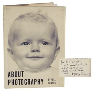 About Photography (Signed First Edition). Will CONNELL