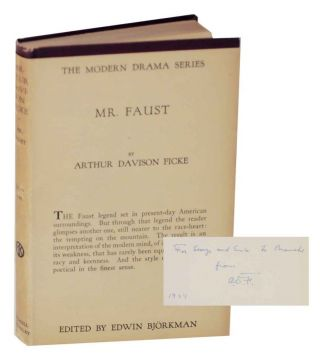 Mr. Faust (Signed First Edition). Arthur Davison FICKE