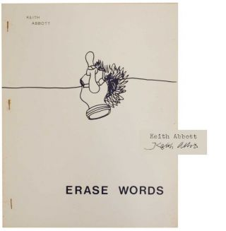 Erase Words (Signed First Edition). Keith ABBOTT