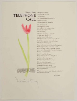 Telephone Call (Signed Broadside). Maurice KENNY