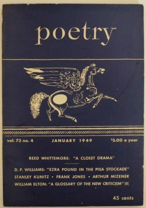 Poetry: A Magazine of Verse Vol. 73 No.4 January 1949. George DILLON, Marion Strobel, Hayden...