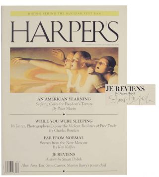 Je Reviens in Harper's Magazine - December 1996 (Signed). Stuart DYBEK