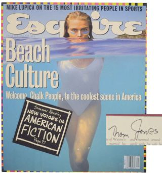 Wipeout in Esquire Magazine July 1992 (Signed First Edition). Thom JONES