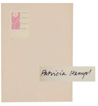 Resort: A Poem (Signed First Edition). Patricia HAMPL