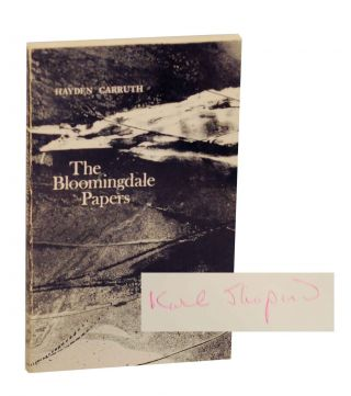 The Bloomingdale Papers (Association Copy). Hayden CARRUTH