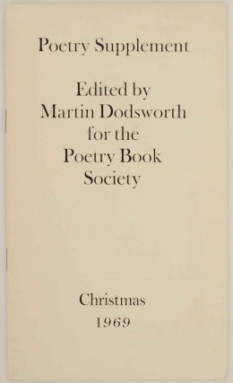 Poetry Supplement Christmas 1969. Martin DODSWORTH, Donald Davie - Barry Cole, David Holbrook,...
