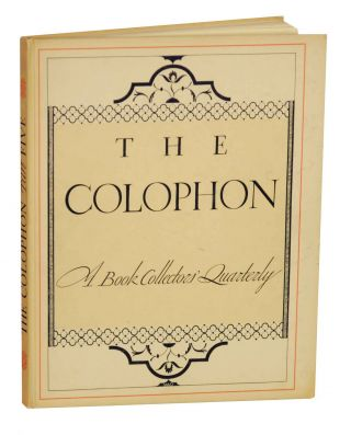 Hilltop- Limited Edition Print from The Colophon, A Book Collector's Quarterly Part 5