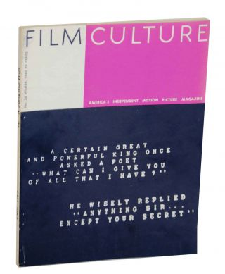 Film Culture No. 26 Fall 1962. Jonas MEKAS