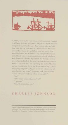 from Middle Passage. Charles JOHNSON