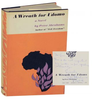 A Wreath For Udomo (Signed First Edition). Peter ABRAHAMS.