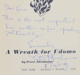 A Wreath For Udomo (Signed First Edition)