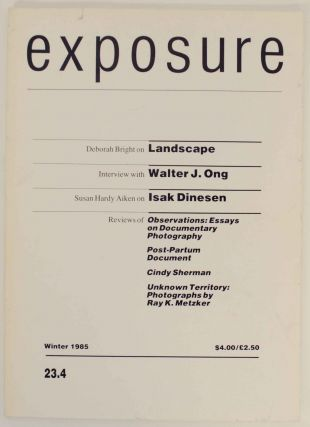 Exposure: Journal of the Society for Photographic Education Volume 23:4 Winter 1985. David L. JACOBS