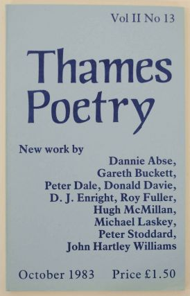 Thames Poetry Vol II No. 13 October 1983. A. A. CLEARY